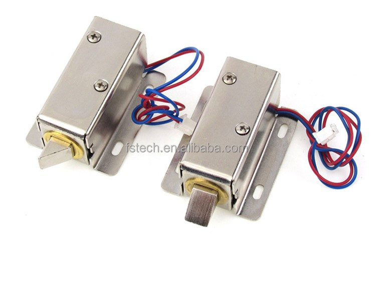 Atoplee Door Drawer Tongue Down Electric Lock Assembly Solenoid DC 12V Slim Design Lock