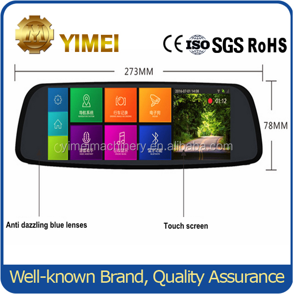 Intelligent Car Dvr Rearview Mirror Camera With Bluetooth Usb Interface