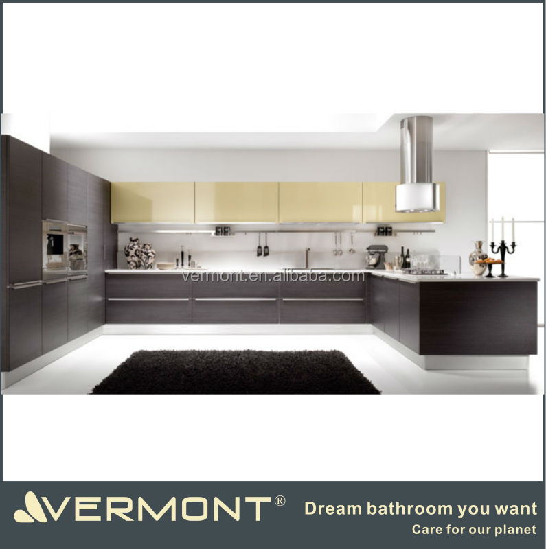modern U shaped modular kitchen design made in China