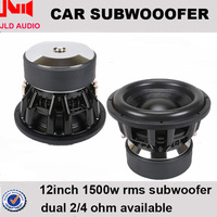 China OEM car subwoofer for 12 inch with 300 Oz motor 1500W rms competition spl speaker