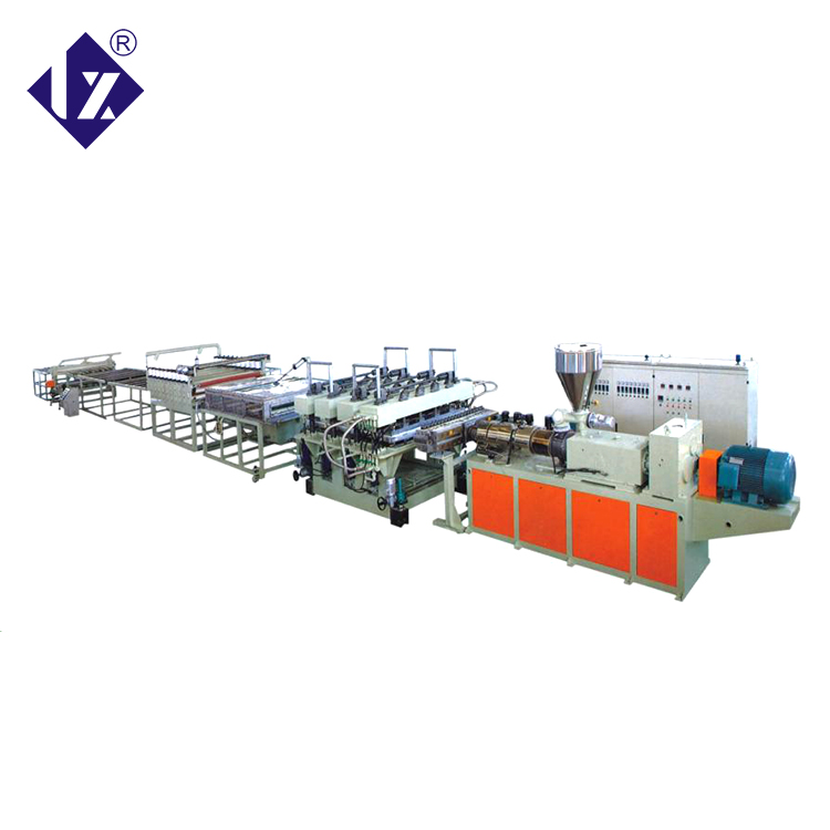 LIANXIN supplies thick polycarbonate sheet production line polystyrene sheet extruder