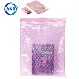 recyclable biodigradable bio bubble plastic wrap zipper pouch,zipper bag with bubble cushion wrap zip lock