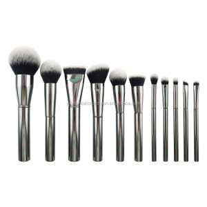 11pcs grey color cosmetic tools 2018 new makeup brush