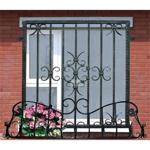 Window grill decorative security metal