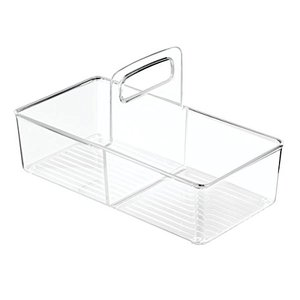 Easy to carry acrylic portable storage basket, can be used in the bathroom, office files, or daily household storage, small,