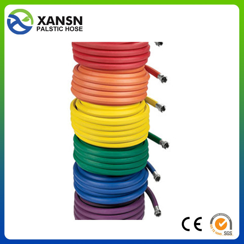 anti-aging flexible garden hose packed in color paper pvc layflat garden hose from china