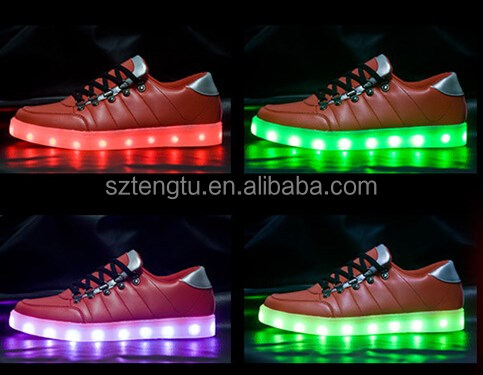 2016 new fashion Flash LED gym shoes with high brightness