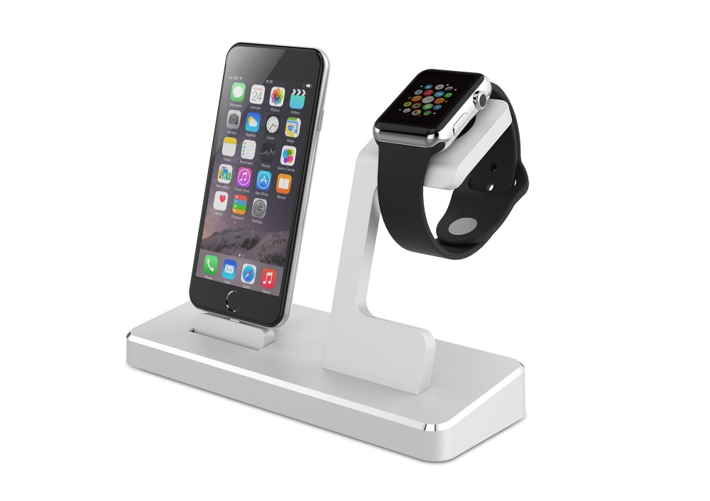 mfi docking station For iPhone with Aluminum Apple Watch Stand