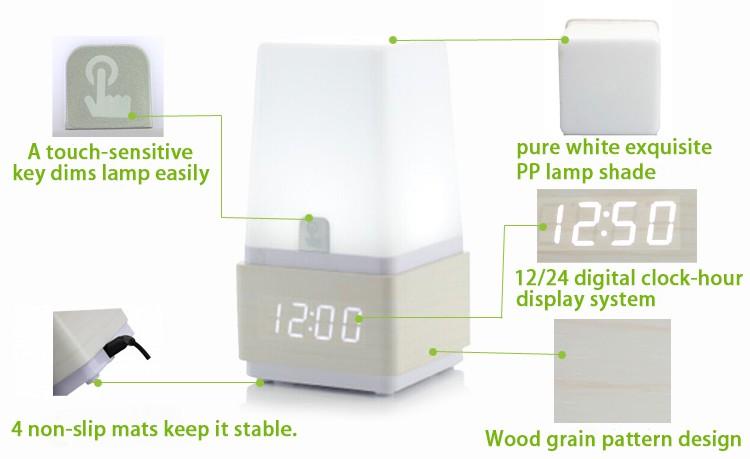 Oem 사운드 시계 책상 램프 테이블 램프/led 시계 Led - Buy Product on ...