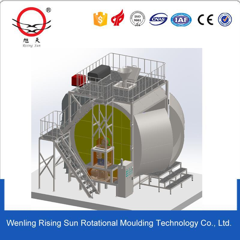rotomolding cleaning machine shell water tank moulding plastic rolling machine