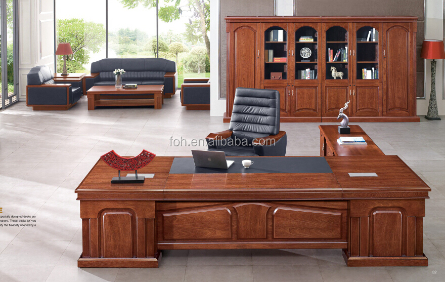 Luxe executive bureau moderne luxe bureaus executive houten bureau