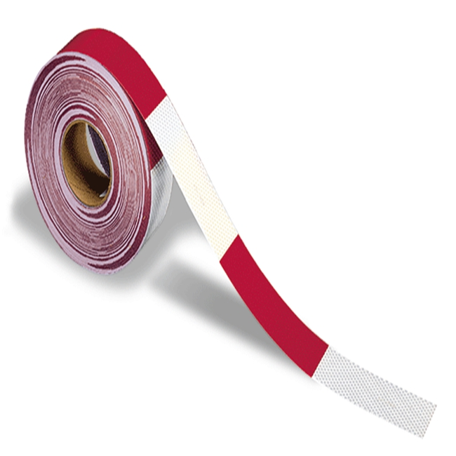 3M Diamond Grade Conspicuity Marking tape 983-326 ES (PN28420) Red/White, (2 in x 12 in cuts), 2 in x 50 yd, 1 per carton