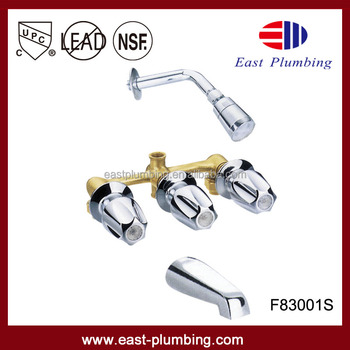 cupc gerber style bath and shower faucet and mixer valve