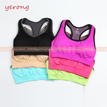 Seamless Ladies' Sublimation Custom Body Up Fitness Wear Sports Fashion Bra Tops
