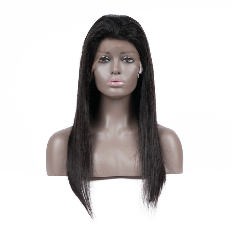 Free Shipping New Glueless Brazilian Human Hair Full Lace Wig With Baby Hair 8A Straight Brazilian Human Hair Wig