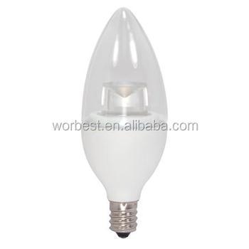 Led Dimmable C37 E12 Candelabra Light Bulbs 5 Watts 400 Lumens 40 ...