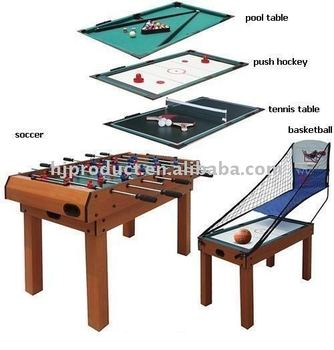 Attrayant 5 In 1 Custom Wooden Multi Games Table