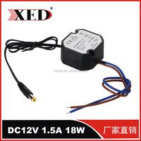 AB rubber IP67 AC/DC DC12V 1.5A 18W 50-60hz security camera system power supply