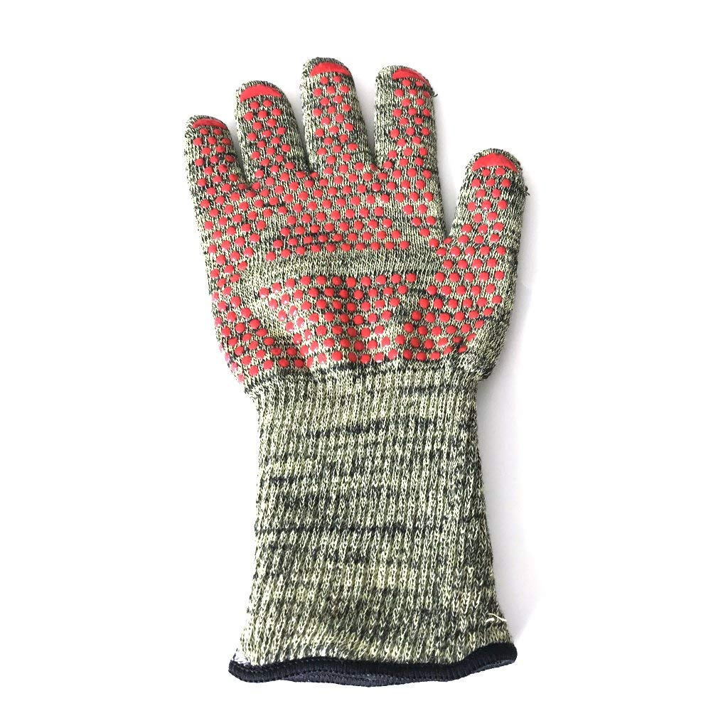 BINYEAE Oven Mitts Gloves BBQ Grilling Cooking Gloves Waterproof glove -932F Extreme Heat Resistant Gloves Long for Extra Forearm Prote