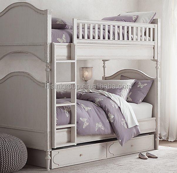 Bisini American Style Kids Wooden Bunk Bed Children Bunk