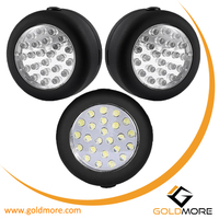 Wholesale price Portable round battery power 24 LED magnetic work light Also used as camping lantern