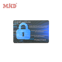 Spot UV blocking contactless smart card for business card