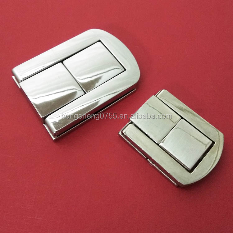 High Quality Nickle Color Lock Box Zinc Alloy Bag Lock For Wooden Box