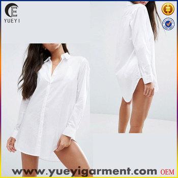 e83281de3a29c best selling produts custom plainblank oversized white beach shirt for women