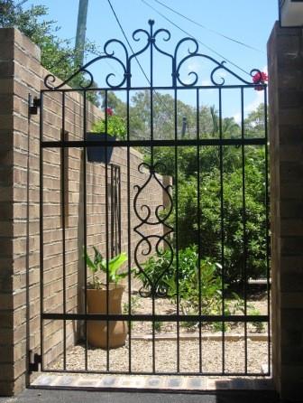 prehung pannello singolo in ferro battuto di stile cancello ...
