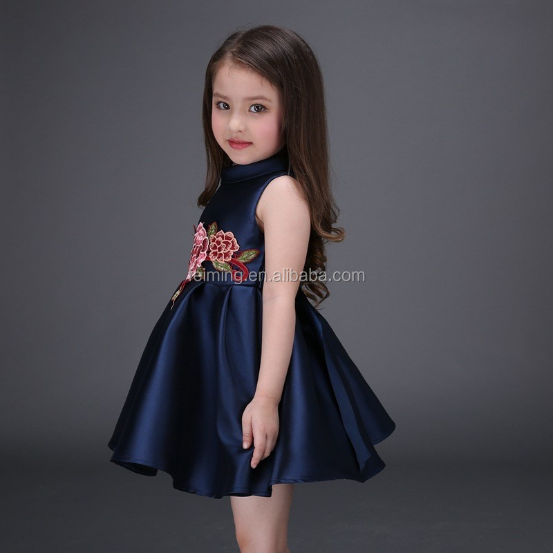 ebf2fa051 Baby clothes 2016 wholesale european style latest designs fashion kids  clothes girls evening flower girl dress