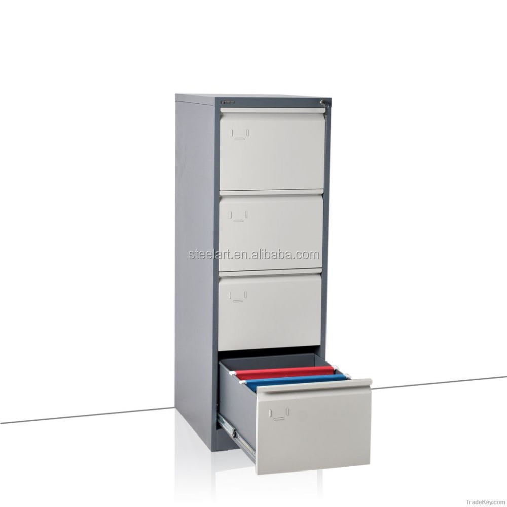 Vertical 4 drawer popular cheap high quality metal office furniture office filing cabinet
