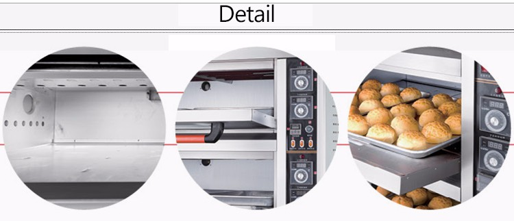 DBK Guangzhou Factory 1 2 3 Trays stainless steel used bakery steam baking Equipment Bread Pizza deck oven gas oven  price