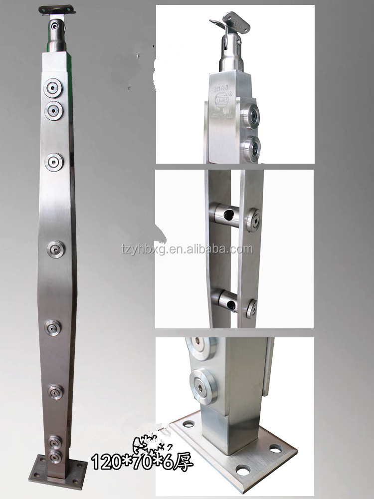 stainless steel handrail fittings/guard railing post