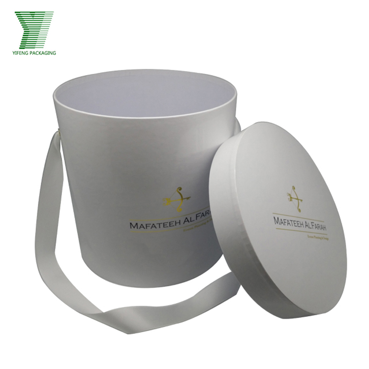 Top quality round flower box customized recyclable flower box packaging