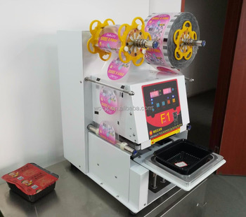 fully automatic food tray sealing machine/ fully automatic food tray sealer/fully automatic food tray packing machine