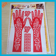 cheap reusable henna design airbrush stencils