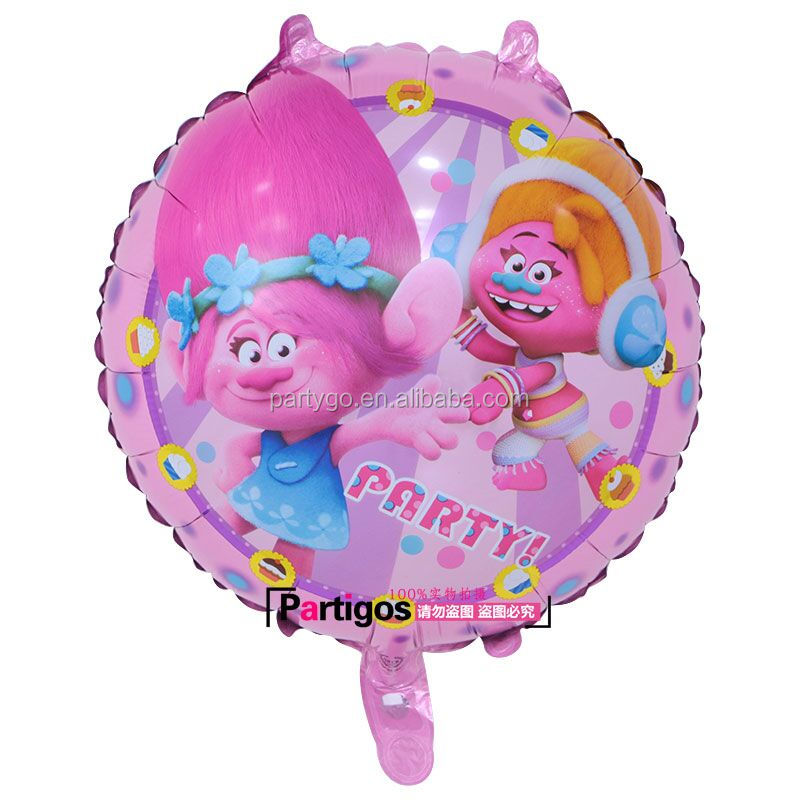 18inch Round Trolls Balloon Troll Foil Balloon Party Decorations Inflatable Toys for kids Children Birthday Suppliers