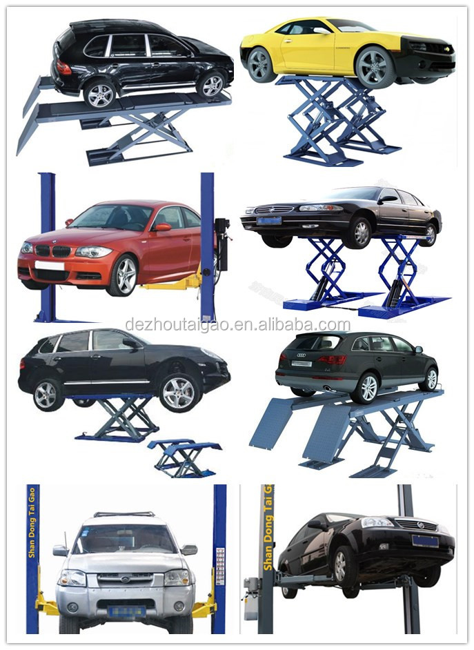Taigao high quality 3500kg four wheel positioning special four column car lifts