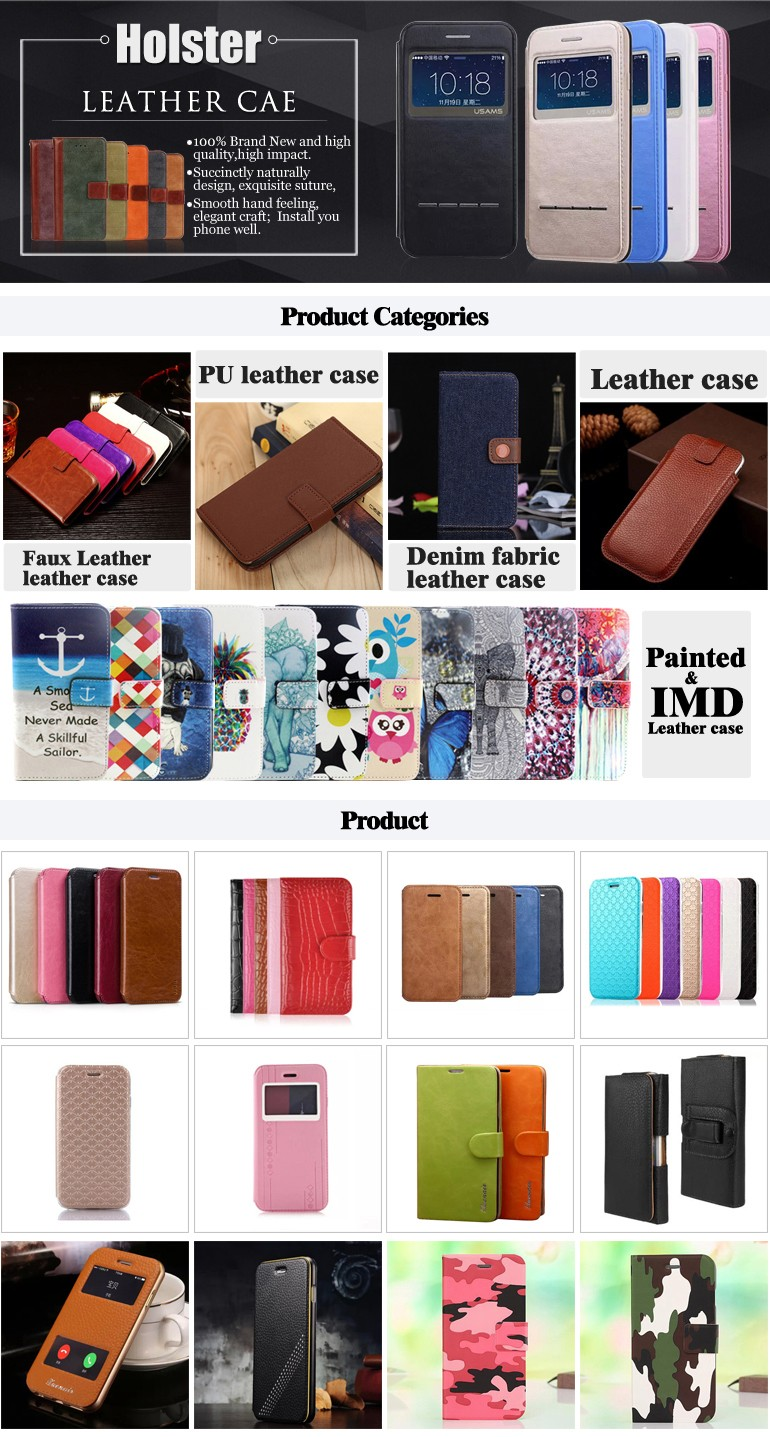 Customized leather phone protective wallet case