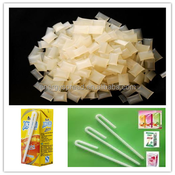 Cost-saving quality hot melt adhesive glue granule for straw fixing bonding