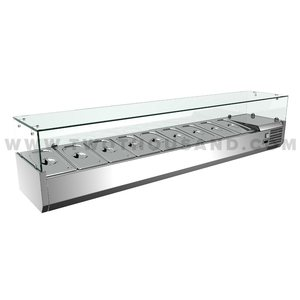 TT-MD333F-1Tabletop Restaurant Equipment Salad Bar Counter Refrigerator
