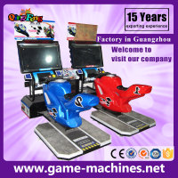 Qingfeng 10-20% discount hot sale mini moto gp simulator arcade game machine car racing game machine