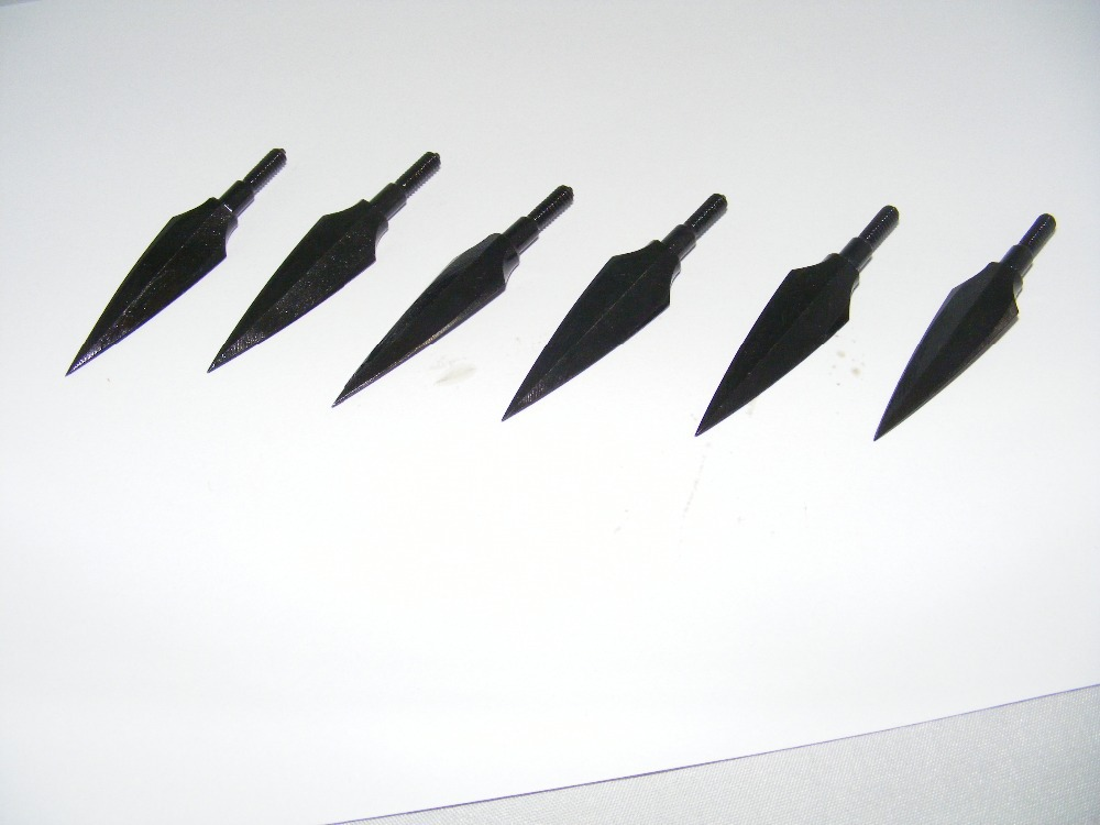 6pcs/lot hunting broadheads also used for archery compound bow arrow heads  arrow points