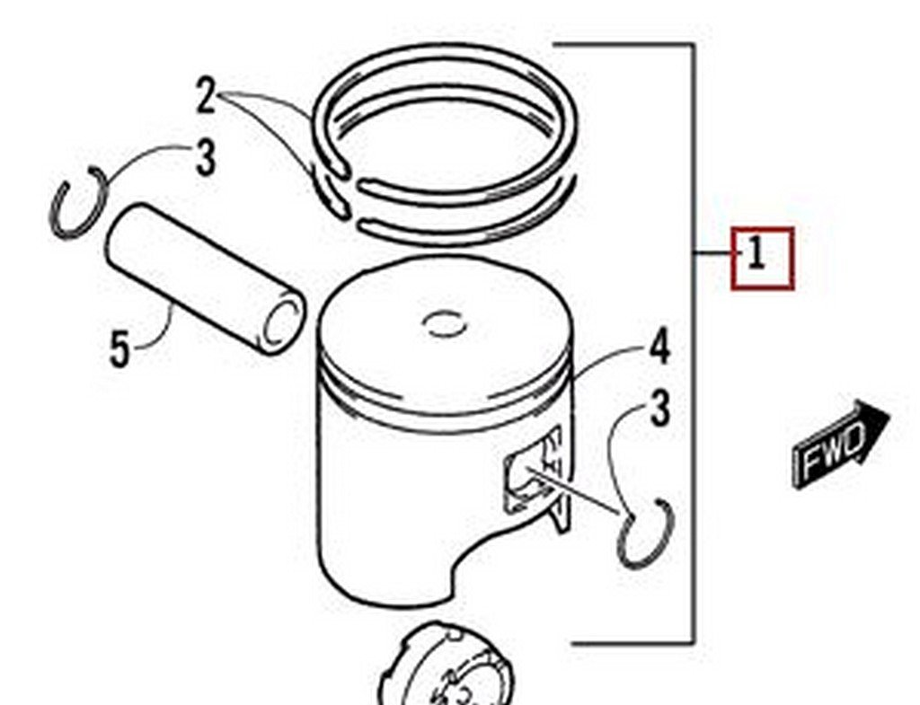 Piston Ring For Yamaha TW200 TW 200 1988-2015 STD Standard Bore Size 67mm