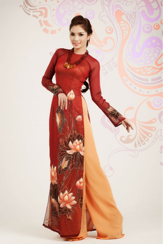 Vietnamese traditional and fashionable ao dai
