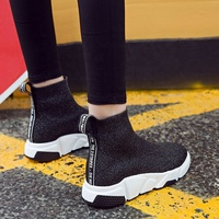 f186aa0af Summer Women s Boot Black Sock Fashion 2018 Casual Flat Shoes Ladies Socks  Boots Outdoor Wild Unisex Sneakers