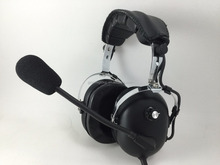 light weight Active Noise Cancellin pilot aviation headset for Pilots