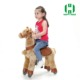 Guangzhou factory Kids horse walking car plush animal scooter ride on pony horse for kids