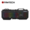 Fantech New gaming keyboard membrane rgb chroma russian led gaming keyboard with phone holder
