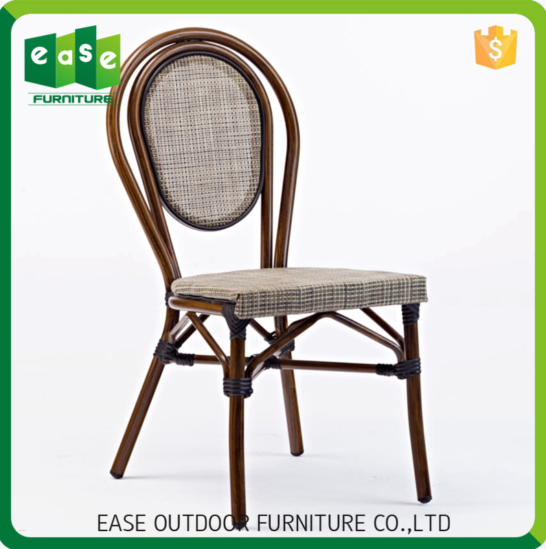 Beautiful Aluminum fabric outdoor restaurant coffee shop use chair